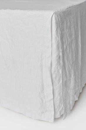 H & M - Helmalakana pestyä pellavaa - Harmaa