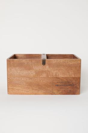 H & M - Iso puinen säilytyslaatikko - Beige