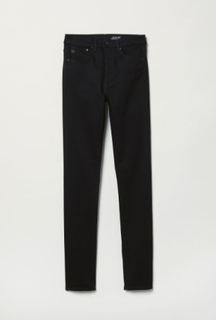 H & M - Shaping Skinny High Jeans - Sort