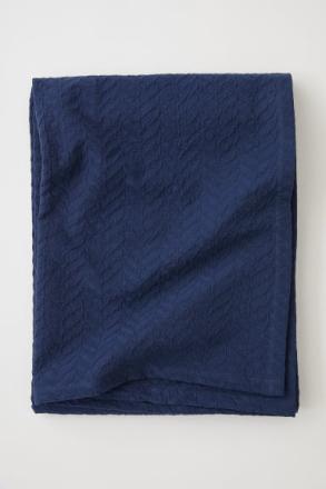H & M - Jakardikudottu päiväpeite - Sininen