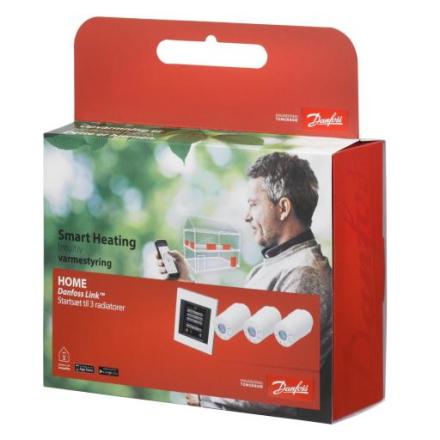 Danfoss Living Connect Pakke m/3 stk termostater og Link styring