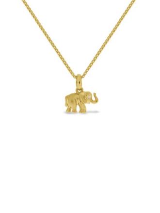 GD 1370 Lykkeelefanten gullforgylt