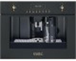 Smeg CMS8451A-60 cm Inbyggd, Helautomatisk Kaffemaskin Med Automatisk Mjölkskummare Antracit Med Vred I Antik Mässing Och Guld