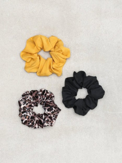 NLY Accessories 3 pack Mixed Scrunchies Håraccessoarer