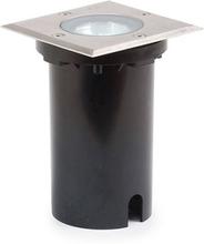 Lågenergi Konstsmide Markspotlight - 230V Fyrkantig