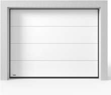 Garageport Takskjutport Modern Vit, 2400x2000