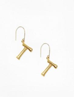 NLY Accessories Bamboo Letter Earrings Øvrige smykker T