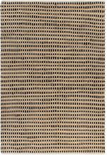vidaXL Matta handvävd jute 160x230 cm beige och svart