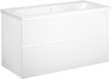 Tvättställsskåp vit m. grepplist Gustavsberg Artic 1000 mm (1 blandarhål)