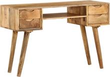 vidaXL Kirjoituspöytä kiinteä mangopuu 115x47x76 cm