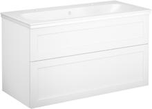 Tvättställsskåp vit ram Gustavsberg Artic 1000 mm (2 blandarhål), 2 st