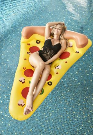 Żółty Materac I Love Pizza