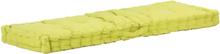 vidaXL Dyna till pallsoffa bomull 120x40x7 cm grön