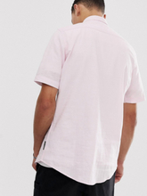 French Connection Tall short sleeve linen shirt-Pink