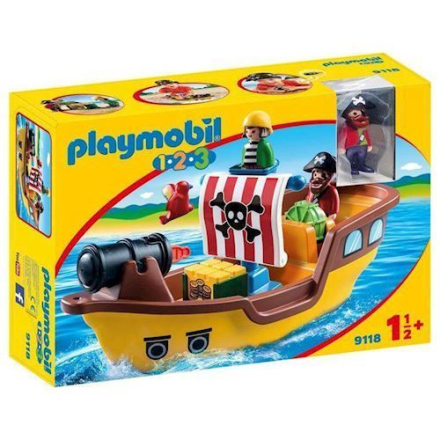 Playmobil 9118 - Piratskib, 1.2.3 - playmobilbutikken