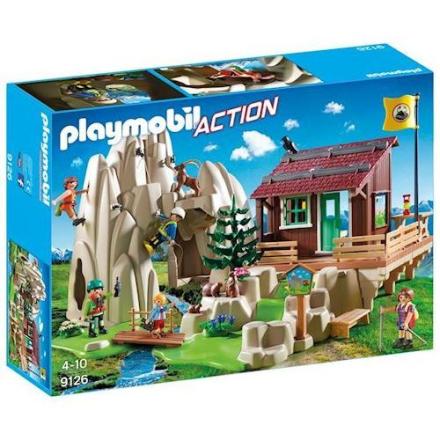 Playmobil 9126 - Bjergklatrere med bjerghytte - playmobilbutikken