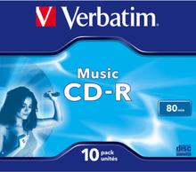 Verbatim Cd-r Skiva Audio 10-pack 80 Min Cake Box