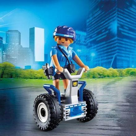Playmobil 6877 - Politibetjent med balancecykel - playmobilbutikken
