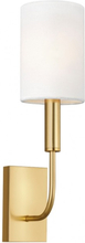Brianna 1 Væglampe H35,9 cm 1 x E14 - Brændt messing