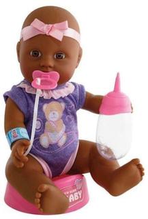 Baby dukke med tilbehør, 4 dele, New Born Baby