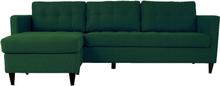 Eddie - Chaiselong Sofa - Mørkegrøn (Flytbar Chaiselong) mindre fejl (S34)