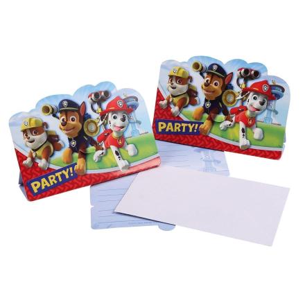 Paw Patrol fest invitationer 8 stk