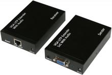 DELTACOIMP VGA och ljud-förlängare över Ethernet-kabel, upp till 300m, svart
