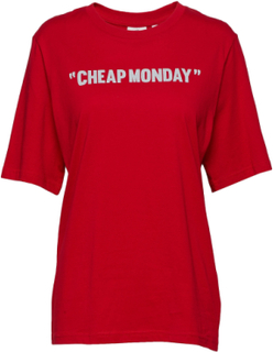 Perfect Tee Cheap Review T-shirt Top Rød Cheap Monday