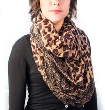 Evighetsscarf med tryck