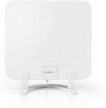 Nedis HDTV-antenn för inomhusbruk | 0-25 km | Förstärkning 30 dB | FM/VHF/UHF | Vit