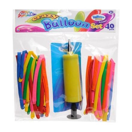 Ballonsæt med pumpe