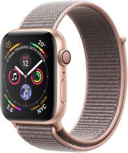 Apple Watch Series 4 GPS - 40mm Gold Aluminiumgeh?use mit rosa Sand-Sportschlaufe mit 3D-gekr?mmter Premium-Displayschutzfolie (Vollkleber) - MU692