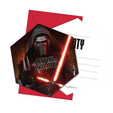 Star Wars fest invitationer 6 stk