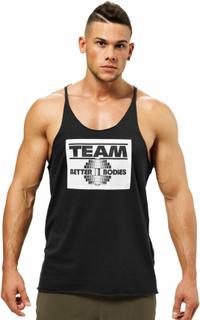 Team Bb Raw Cut Tank, black, Better Bodies
