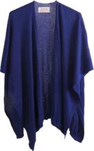 Kasjmier-blend omslagdoek in kobaltblauw