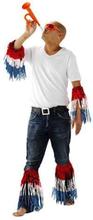 Arm og bensæt, rød, blå, hvid