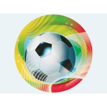 8 engangstallerkner, fodbold