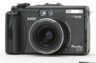 Powershot G5 5MP 3 X Optisk Zoom Sort Digitalkamera