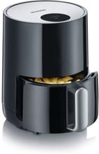 SEVERIN FR 2455 - Varmluftsfritös - 1.8 liter - 900 W - svart/silver
