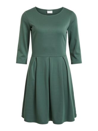 VILA 3/4 Sleeved Dress Women Green