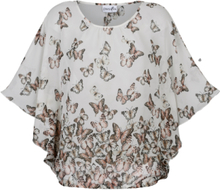 Tunika med sommerfugler Dress In Hvit