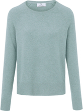 Rundhalsad tröja i 100% PREMIUM kashmir från Peter Hahn Cashmere grön