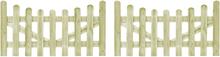 vidaXL Trädgårdsgrindar 2 st impregnerad furu 150x80 cm