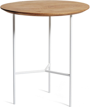 Mavis - Tribeca Side Table 47 cm, Oiled Rustic Oak/White Legs