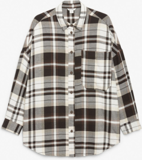 Oversized flannel shirt - White