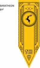 Game Of Thrones Vimpel / Flagga 152*45 Cm - Baratheon Gul Baratheon Gul