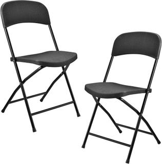 Plastik camping stole (2 stole sæt)-47x39x87cm
