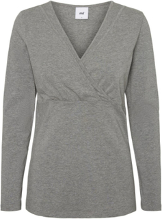 MAMA.LICIOUS Jersey Ammetopp Women Grey