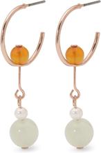 Pilgrim - Rina Earrings, Rose Gold/Multi