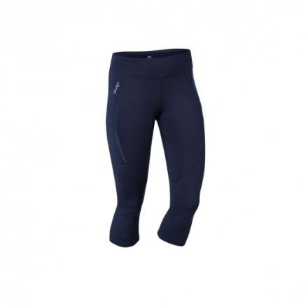 Fitness crop tights (Färg: Mörkblå, Storlek: XXL)